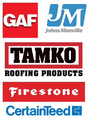 GAF, Johns Manville, Tamko Roofing Products, Firestone, Certified