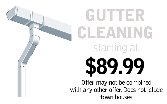 Gutter Cleaning Starting at $39.99