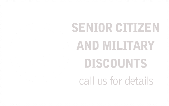 Senior citizen and military discounts
